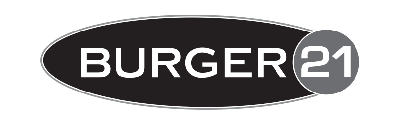 Burger 21 Logo Design Black and White
